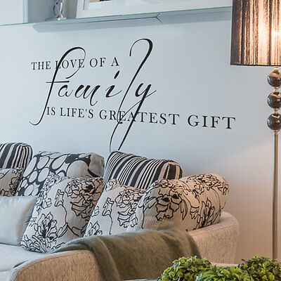 Turtle-dove FAMILY GIFT Living Room Wall Art Decal Quote Words Lettering Decor