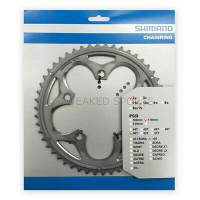 New Shimano 105 FC-5750-S Replacement Outer Chainring Bike 110 BCD x 50T Silver