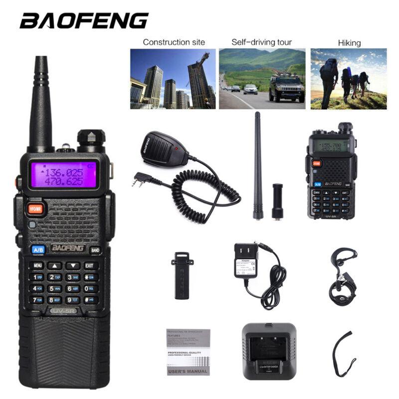 Baofeng UV-5R Walkie Talkies Two-way Radio Dual Band VHF UHF Long Range+Hand Mic