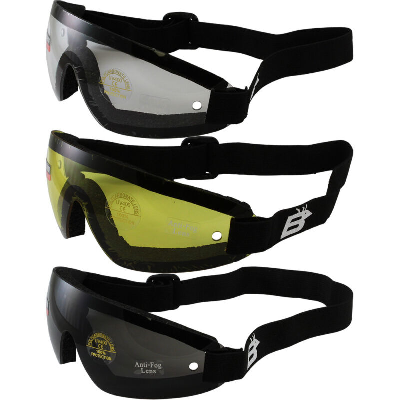 12 SKYDIVE GOGGLES SKYDIVING PARACHUTE 4 YELLOW 4 CLEAR 4 SMOKE LENS