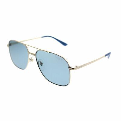 Vogue By Gigi Hadid VO 4083S 848/80 Pale Gold/White Aviator Sunglasses Blue Lens
