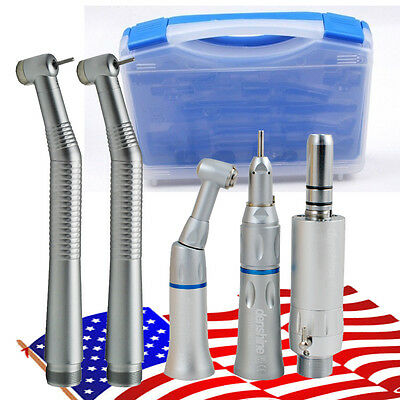 Dental 2 Hole Push Button High Low Speed Handpiece Complet Kit Cartridge Fit Nsk