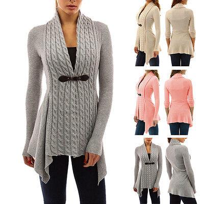 Women Long Sleeve Sweater Top Casual Irregular Knitted Cardigan Outwear Coat Lot