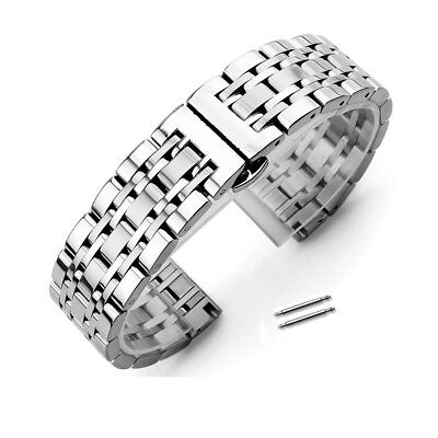 Stainless Steel Polished Bracelet Butterfly Clasp Replacement Watch Band -
