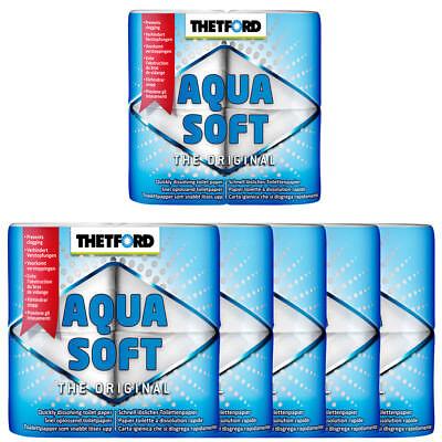 6x Camping-Toilettenpapier Aqua Soft von Thetford TOP ANGEBOT 24 Rollen Zelten