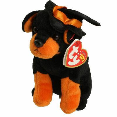 Halloween Ty Black Alacazam Dog Orange Hat Plush Stuffed Ani