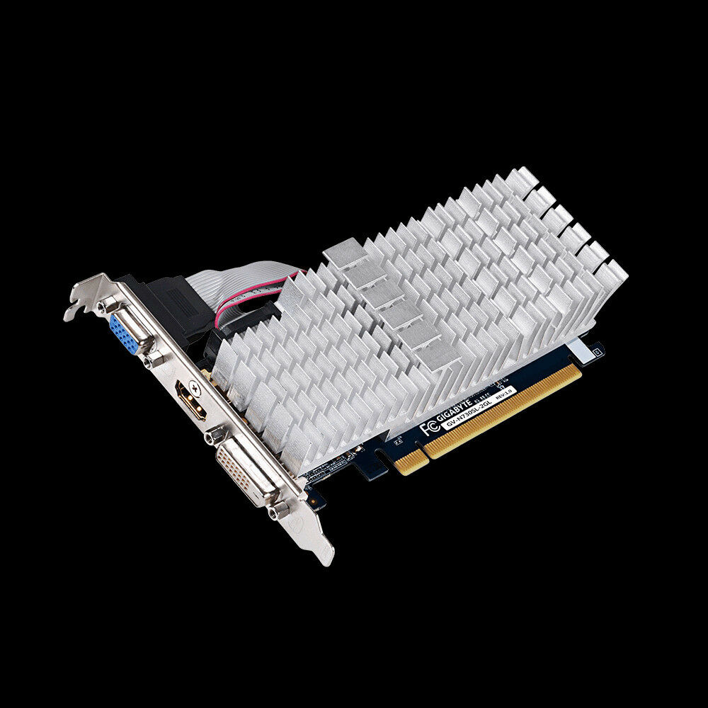 2GB Gigabyte GeForce GT 730 Silent, Single Slot,