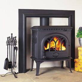Barely Used Black Enamelled Cast Iron JOTUL Stove/Gas Fireplace F3