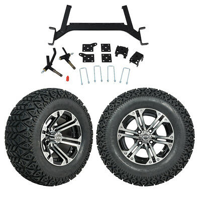 "GTW 6"" EZGO TXT Golf Cart Lift Kit Combo W/ A/T Tires & 12"" Wheels For 2001.5-Up"