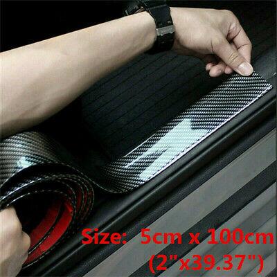 Car Parts - Parts Accessories Black Carbon Fiber Stickers Car Door Sill Threshold Trim Cover
