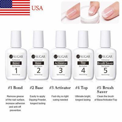 UR SUGAR 15ml Dipping Nail Powder System Liquid  Fast Dry Clear Nail Art Tool