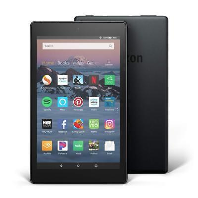 "Amazon Kindle Fire HD 8 8"" Tablet 16GB (8th Generation) 2018 - Black"