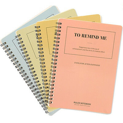Office Stationery A5 Coil Notepad Staples Mini Memo Notebook 60 Sheets Paper