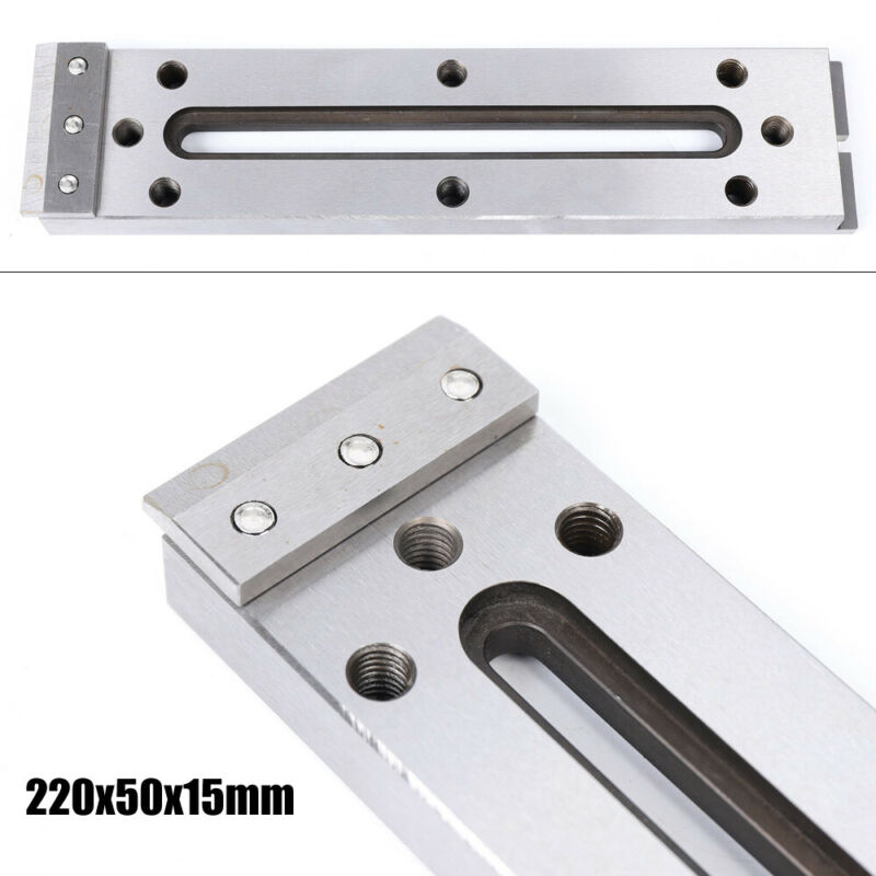 220x50x15 mm For Clamping & Leveling Wire EDM Fixture Board Stainless Jig Tool