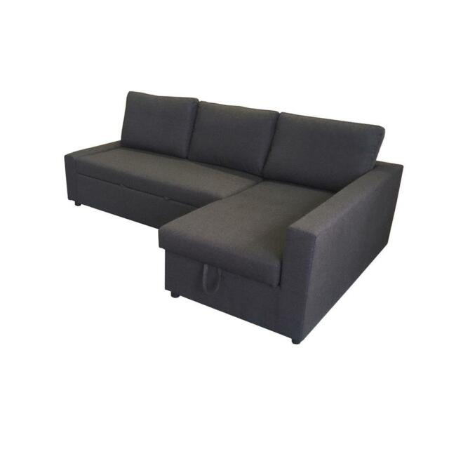 sofa bed with storage. Modren Storage Brand New Dark Grey Sofa Bed With Storage Chaise  Sofas Gumtree  Australia Monash Area  Clayton 1194068180 Intended With R