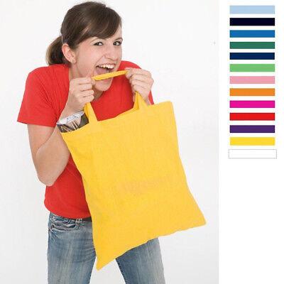 Baumwolle Damen Tasche (Baumwolltasche Tasche Baumwolle Stoffbeutel Baumwollbeutel 38x42cm kurze Henkel )