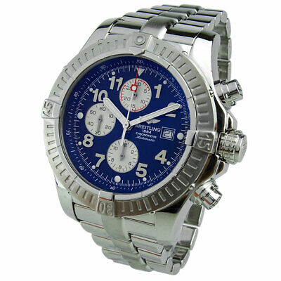BREITLING SUPER AVENGER STAINLESS STEEL AUTOMATIC WRISTWATCH A13370