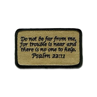 Tactical Combat Morale Patch EMB Hook and Loop Ptch by BASTION - Psalm 22:11 ACU