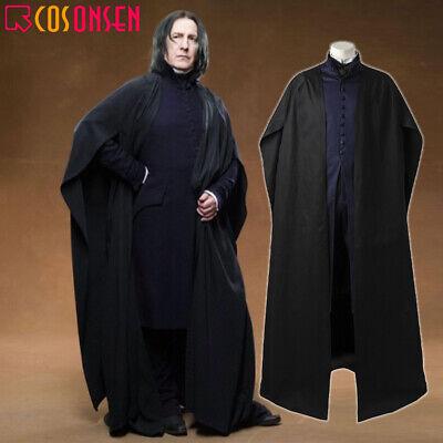 Severus Snape Halloween Costume (Harry Potter Severus Snape Deathly Professor Outfit Halloween Cosplay)