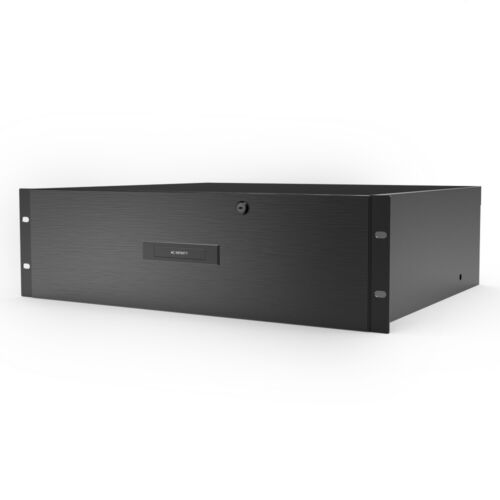 """Heavy-Duty Rack Drawer Accessory with Aluminium Faceplate for 19"""" Rackmount 3U"""