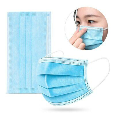 Bag of 5,10, or 20 3-PLY Face Mask Cover Men Women Dental Medical Respiratory