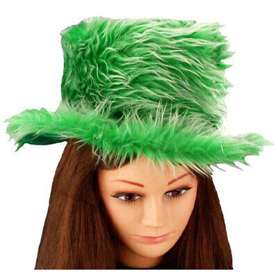 Funny Costume Hats (Green Furry Hat Funny Irish St Saint Patrick's Day Party Adult Costume)