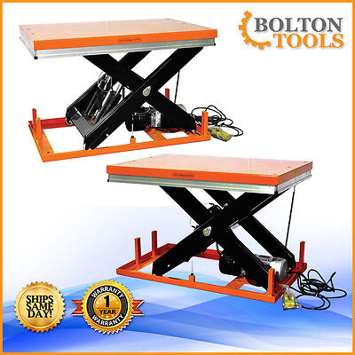 Bolton Tools Electric Stationary Hydraulic Lift Table 4400 Lb Capacity Et2001