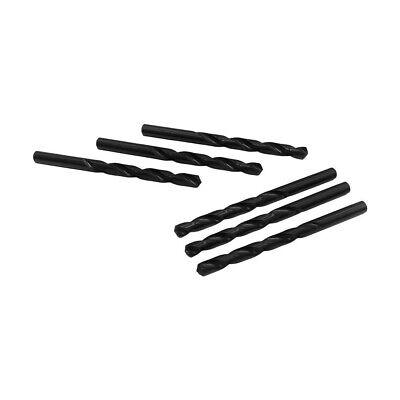 Straight Shank Drilling 6 Pc 7.8mm Hss Black Oxide Jobber Length Twist Drill Set