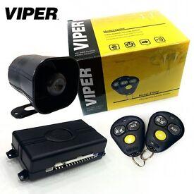 Car Van Security Alarm System With 2 Fobs Doors Boot Bonnet Shock Sensor & Siren £175 Supplied & Fit