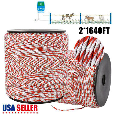 Polywire 1000m Roll Electric Fence Energiser Stainless Steel Poly Wire Insulator