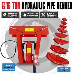 16 Ton Air & Hydraulic Operated Pipe Bender With 8 Dies Macquarie Park Ryde Area Preview