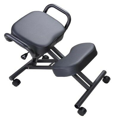 Ergonomic Kneeling Chair Adjustable Stool W Thick Seat Handle Casters Office