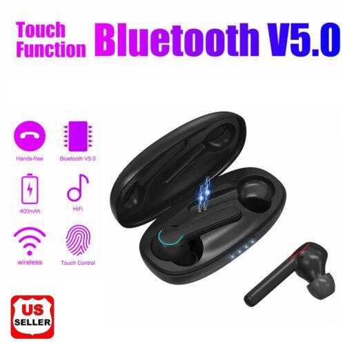 Wireless TWS Mini True Bluetooth Twins Stereo In-Ear Earphone Headset Earbuds US Cell Phone Accessories