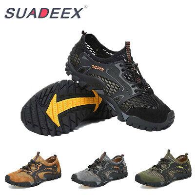 Mens Barefoot Water Aqua Shoes Quick Dry Mesh Lightweight Hiking Walking Sandals Hiking Walking Shoes
