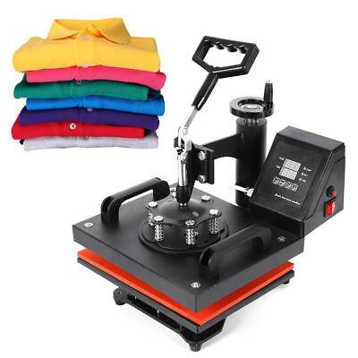 Digital Heat Press Machine Sublimation T-shirt Mug Plate Hat Printer 12x10 Us