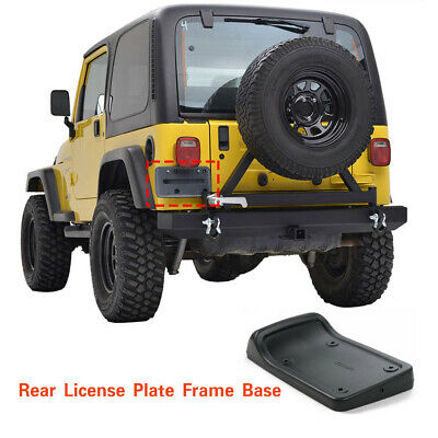 1997-2006 for Jeep Wrangler TJ Tail Rear License Plate Frame Holder Mounting Bracket