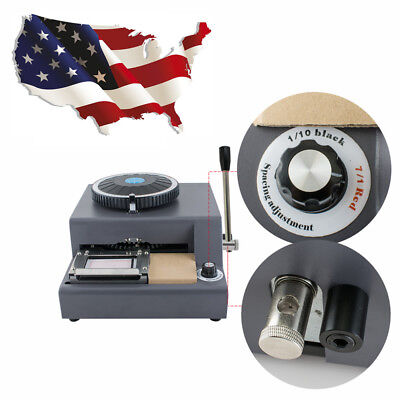 72 Character Letter Manual Embosser Stamping Machine Pvc Credit Card Maker Usa