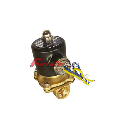 New 12v Dc 14 Electric Solenoid Valve Water Air Gas Fuels Nc - Brass