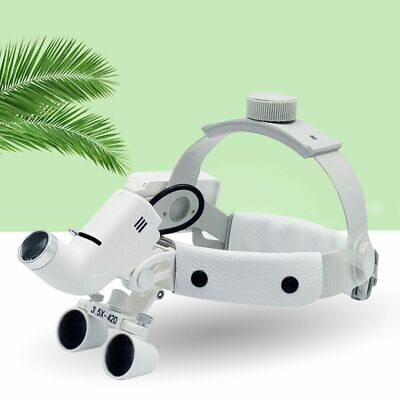 Dental Headband Magnifier 3.5x 420mm Surgical Binocular Loupes5w Led Headlamp