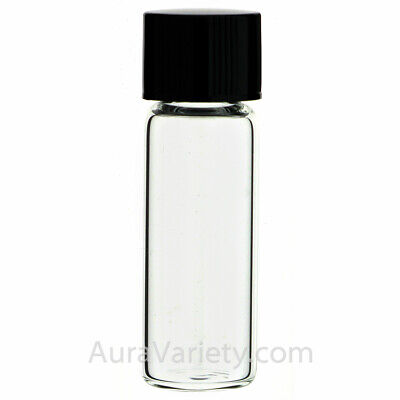 - MADE IN USA 1/2 DRAM 2 ml CLEAR GLASS TALL VIAL - OIL SAMPLE BOTTLE 12 24 72 144