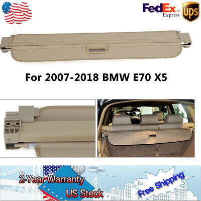 Trunk Shade Beige Cargo Cover For BMW X5 E70 2008 2009 2010 2011 2012-2018