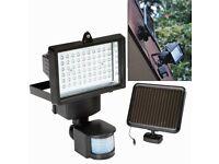 New Solar Powered LED Floodlight + PIR Motion Sensor 60xLEDs Security Light Garden Garage Driveway