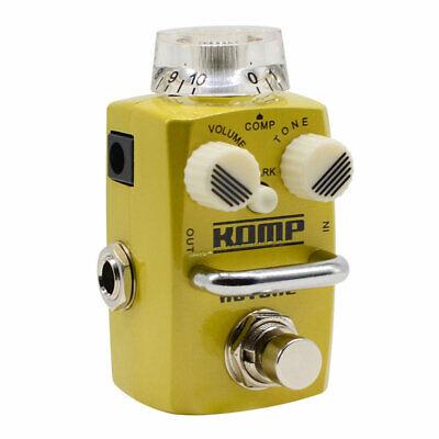 Hotone Komp Analog Opto LA2A Style Optical Compressor Guitar Bass Effects Pedal