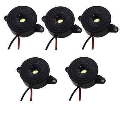 5pcs Dc 3-24v Black Piezo Electronic Tone Buzzer Alarm Continuous Beep Db