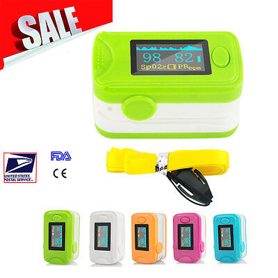 Blood Oxygen Meter Finger Pulse Oximeter Oxymeter Spo2 Pr Monitor Fda Ce Passed