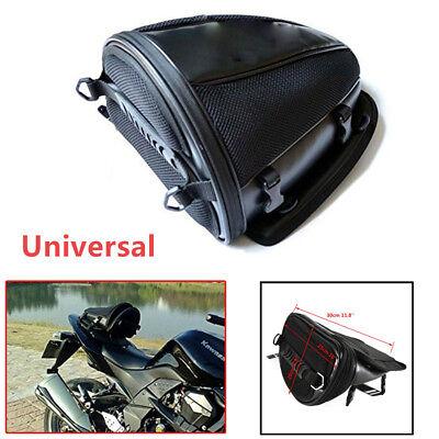Motorcycle Bike Enduro Waterproof Back Seat Carry Bag Luggage Tail Bag Saddlebag
