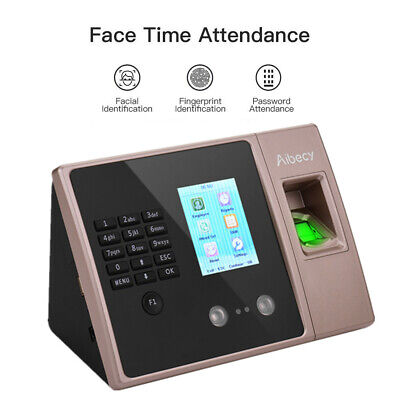 Face Recognition Fingerprint Time Clock Attendance Machine Access System Us K4f9