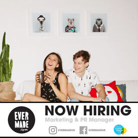 Marketing & PR Manager at small creative company: Evermade
