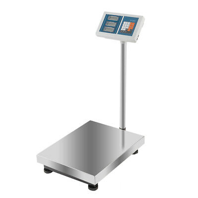 Heavy Duty 300kg660lb Industrial Digital Platform Postal Weighing Scales Silver