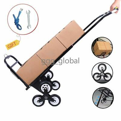 330lb Hd Folding Climbing Stair Cart Hand Truck Dolly Warehouse Moving Trolley
